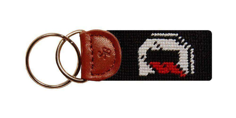Key Fobs - Davidson Needlepoint Key Fob In Black By Smathers & Branson