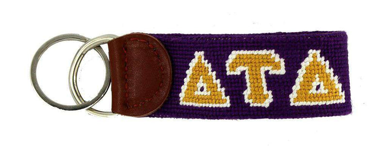 Key Fobs - Delta Tau Delta Needlepoint Key Fob In Purple By Smathers & Branson