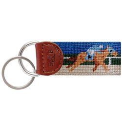 Key Fobs - Derby Needlepoint Key Fob By Smathers & Branson