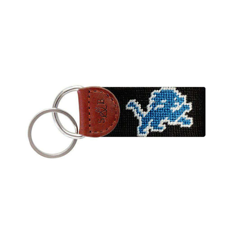 Detroit Lions Needlepoint Key Fob by Smathers & Branson