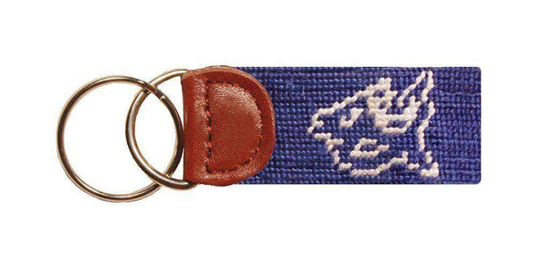Key Fobs - Duke University Needlepoint Key Fob In Blue By Smathers & Branson