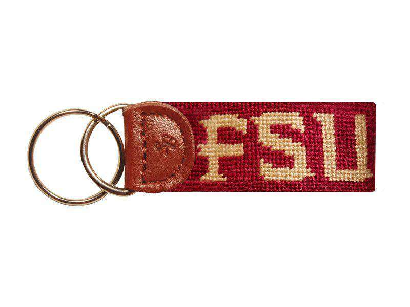 Key Fobs - Florida State University Needlepoint Key Fob In Garnet By Smathers & Branson