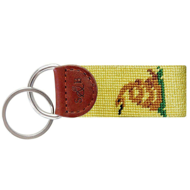 Key Fobs - Gadsden Flag Needlepoint Key Fob In Yellow By Smathers & Branson
