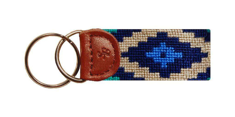 Key Fobs - Gaucho Needlepoint Key Fob In Dark Khaki By Smathers & Branson
