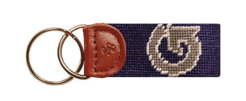 Key Fobs - Georgetown University Needlepoint Key Fob In Navy By Smathers & Branson