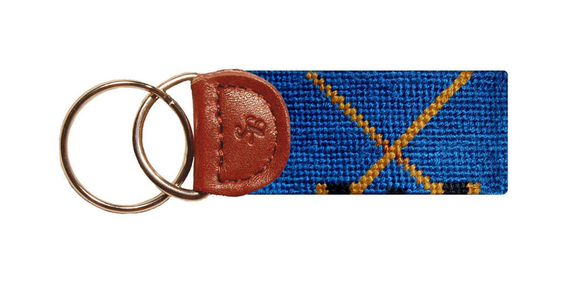 Key Fobs - Hockey Needlepoint Key Fob In Blue By Smathers & Branson