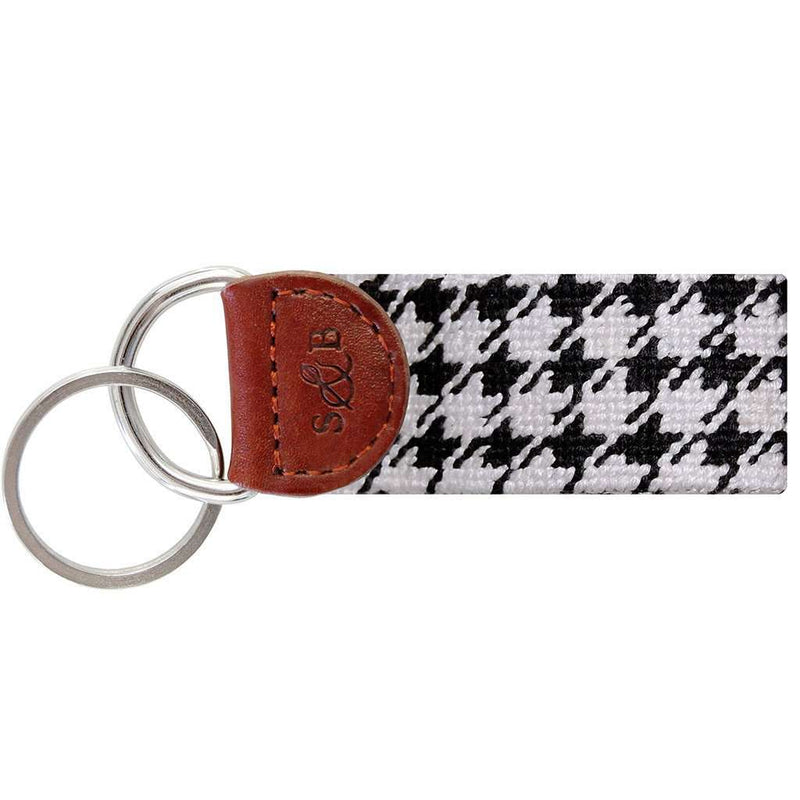 Key Fobs - Houndstooth Needlepoint Key Fob By Smathers & Branson
