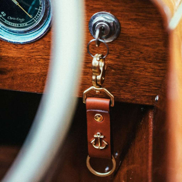 Keys to Adventure Key Fob in Brass by Kiel James Patrick