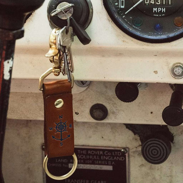 Key Fobs - Keys To Adventure Key Fob In Navy By Kiel James Patrick
