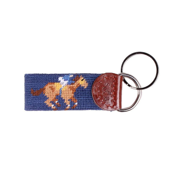 Limited Edition Race Horse and Bourbon Needlepoint Key Fob by Smathers & Branson