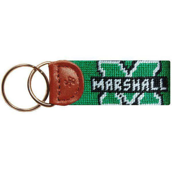 Key Fobs - Marshall Needlepoint Key Fob In Green By Smathers & Branson