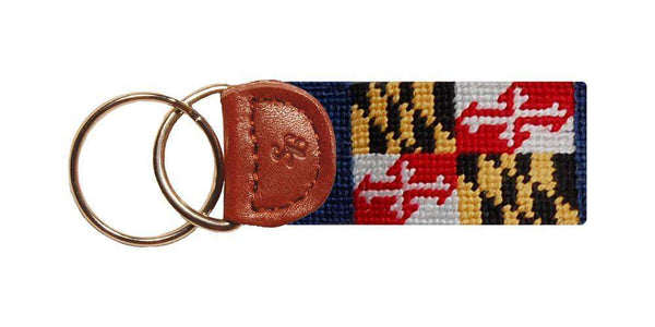 Key Fobs - Maryland Flag Needlepoint Key Fob By Smathers & Branson