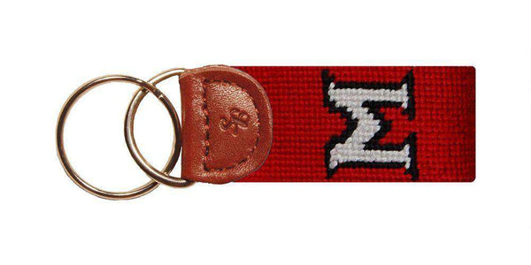 Key Fobs - Miami University (Ohio) Needlepoint Key Fob In Red By Smathers & Branson