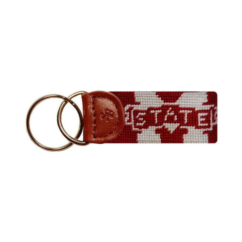 Key Fobs - Mississippi State Needlepoint Key Fob In Maroon By Smathers & Branson