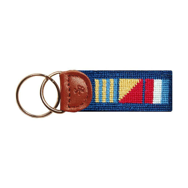 Key Fobs - Nautical Key Fob In Navy By Smathers & Branson