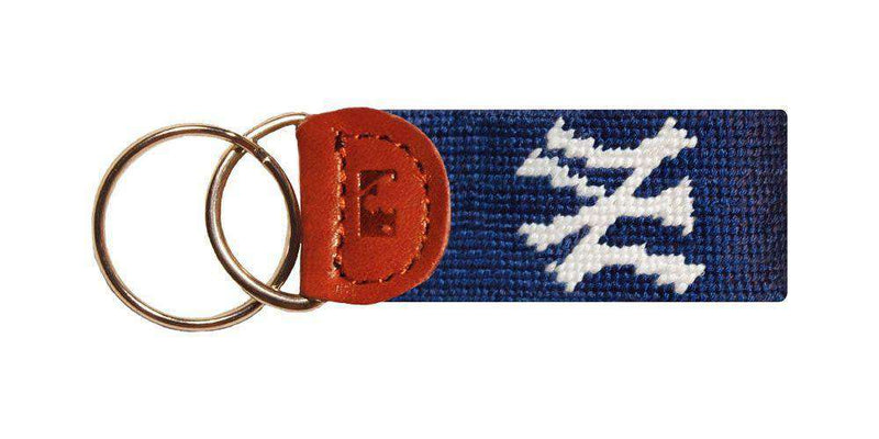 Key Fobs - New York Yankees Needlepoint Key Fob In Navy By Smathers & Branson