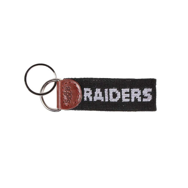 Oakland Raiders Needlepoint Key Fob by Smathers & Branson