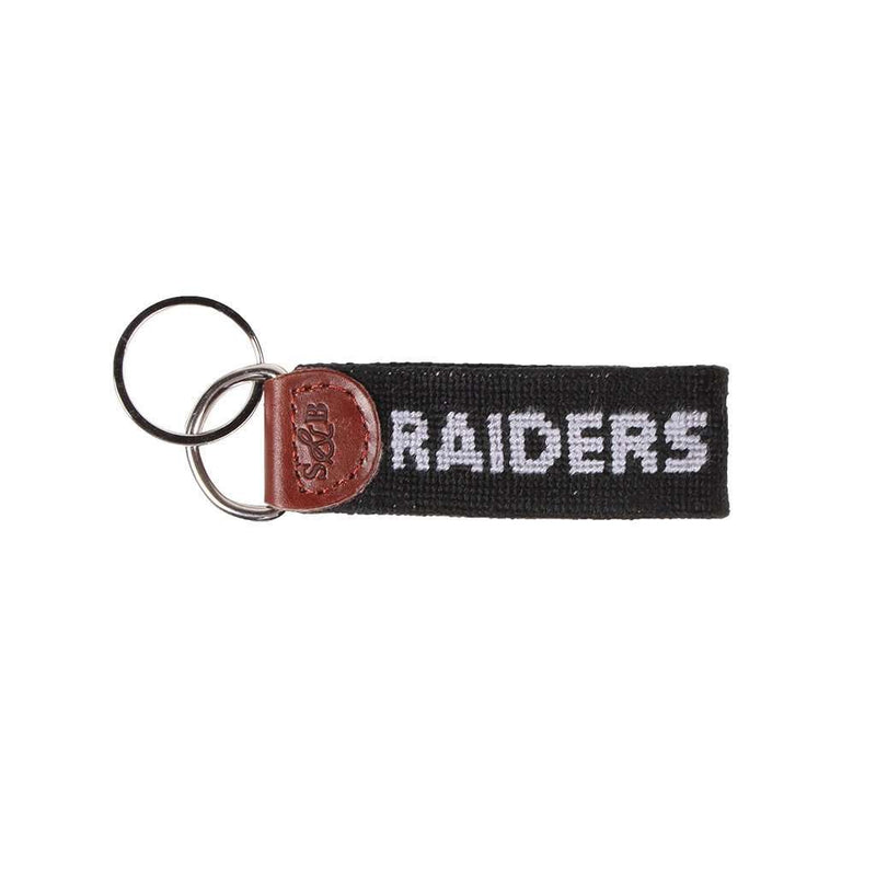 Key Fobs - Oakland Raiders Needlepoint Key Fob By Smathers & Branson