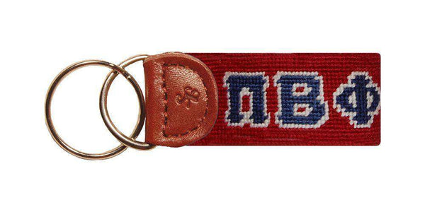 Pi Beta Phi Needlepoint Key Fob by Smathers & Branson
