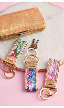 Key Fobs - Pink Colony Key Fob By Lilly Pulitzer