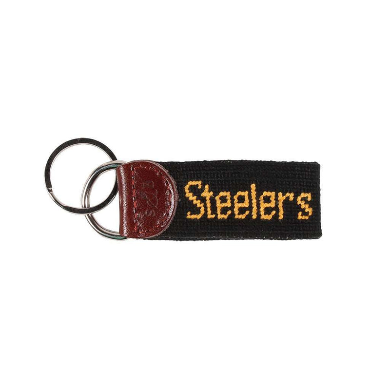 Key Fobs - Pittsburgh Steelers Needlepoint Key Fob By Smathers & Branson
