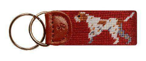 Key Fobs - Pointer Needlepoint Key Fob By Smathers & Branson