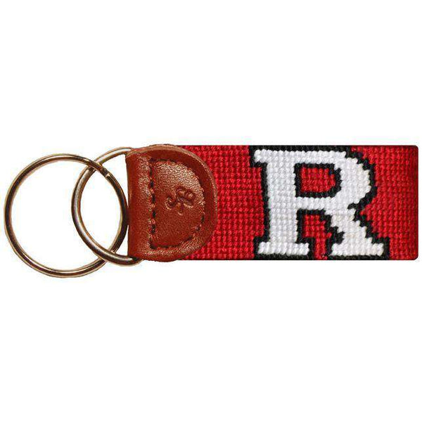Key Fobs - Rutgers Needlepoint Key Fob In Red By Smathers & Branson