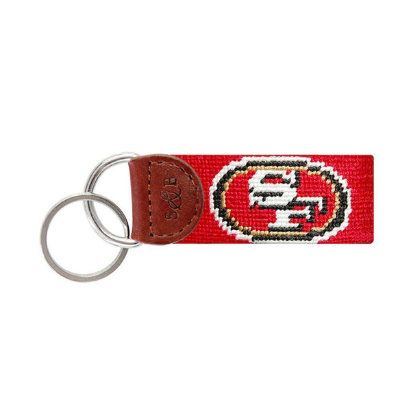 San Francisco 49ers Needlepoint Key Fob by Smathers & Branson