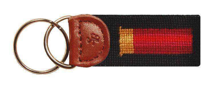 Shotgun Shell Needlepoint Key Fob in Black by Smathers & Branson