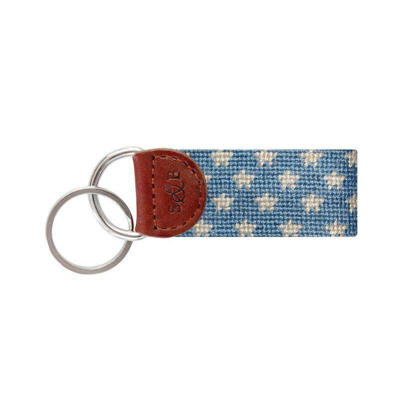 Key Fobs - Stars And Stripes Key Fob In Red, White And Blue By Smathers & Branson