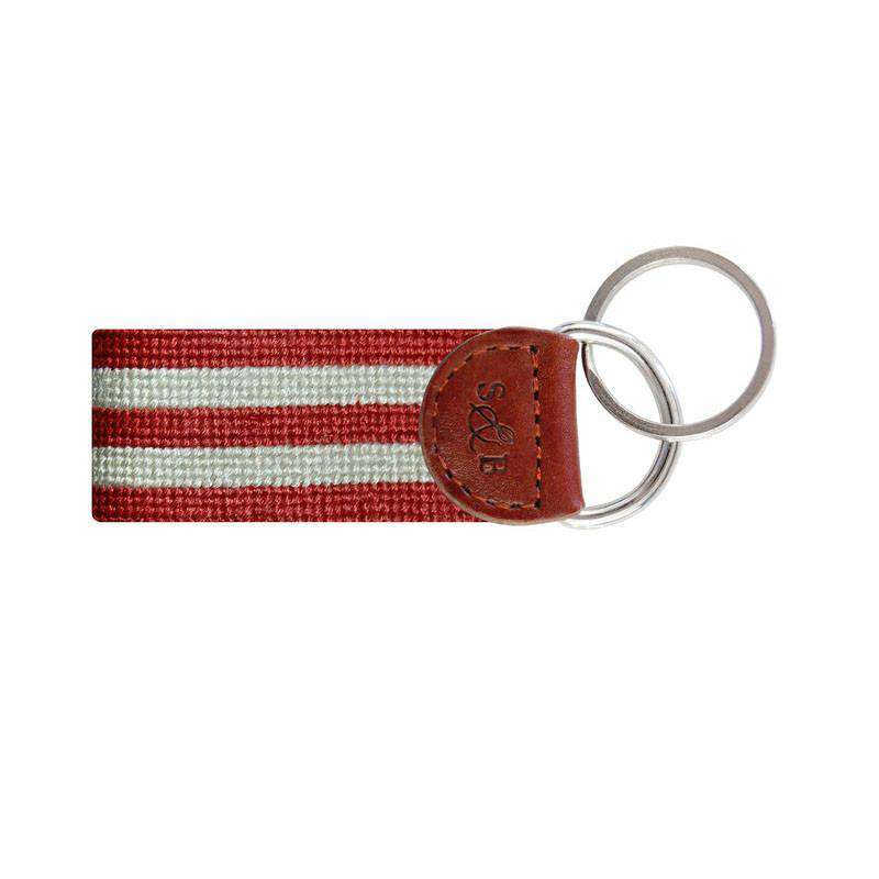 Stars and Stripes Key Fob in Red, White and Blue by Smathers & Branson