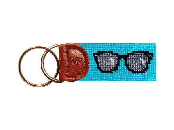 Sunglasses Needlepoint Key Fob in Blue by Smathers & Branson