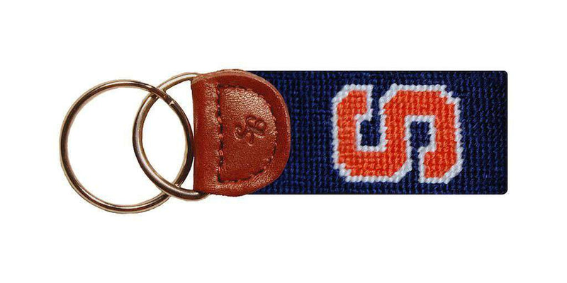 Key Fobs - Syracuse Needlepoint Key Fob In Blue By Smathers & Branson