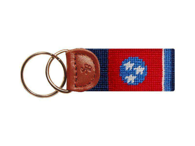 Key Fobs - Tennessee Flag Needlepoint Key Fob By Smathers & Branson