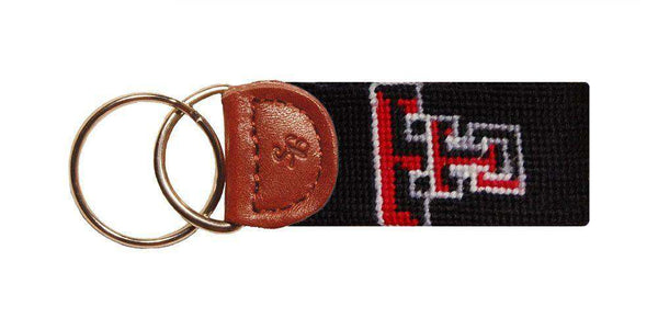 Texas Tech Needlepoint Key Fob in Black by Smathers & Branson