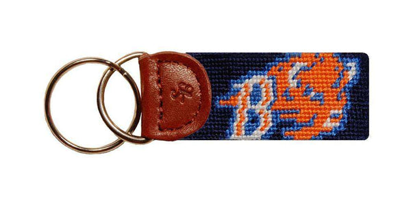 Key Fobs - The Bucknell University Needlepoint Key Fob In Navy By Smathers & Branson