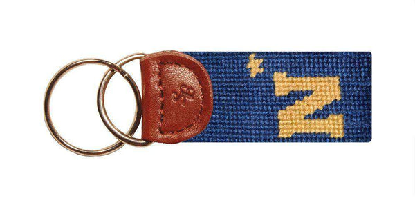 The Naval Academy Needlepoint Key Fob in Navy by Smathers & Branson