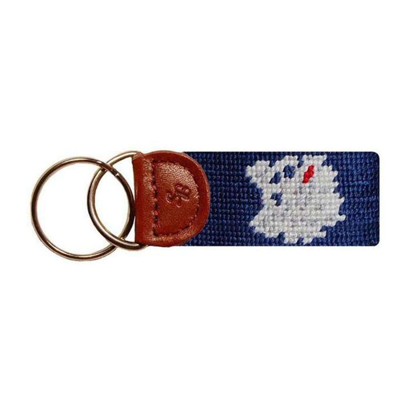 University of Connecticut Needlepoint Key Fob in Navy by Smathers & Branson