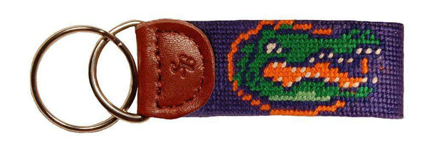 Key Fobs - University Of Florida Needlepoint Key Fob In Blue By Smathers & Branson