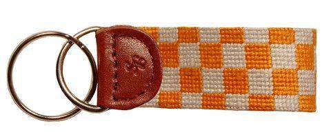 Key Fobs - University Of Tennessee Checkered Needlepoint Key Fob By Smathers & Branson