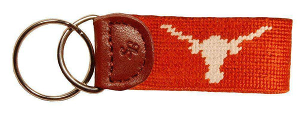 University of Texas Needlepoint Key Fob in Burnt Orange by Smathers & Branson