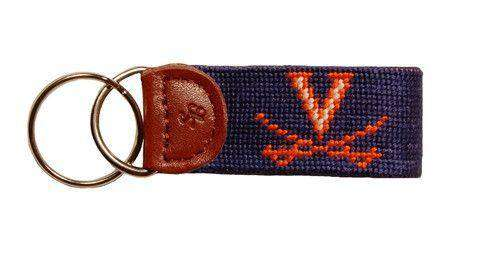 Key Fobs - University Of Virginia Needlepoint Key Fob By Smathers & Branson
