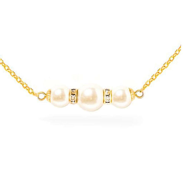 Pearl & Sparkle Necklace in Gold by Kiel James Patrick