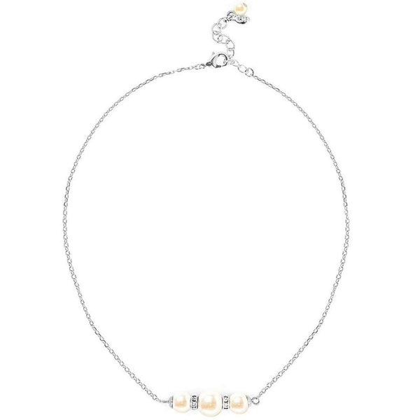 Pearl & Sparkle Necklace in Silver by Kiel James Patrick