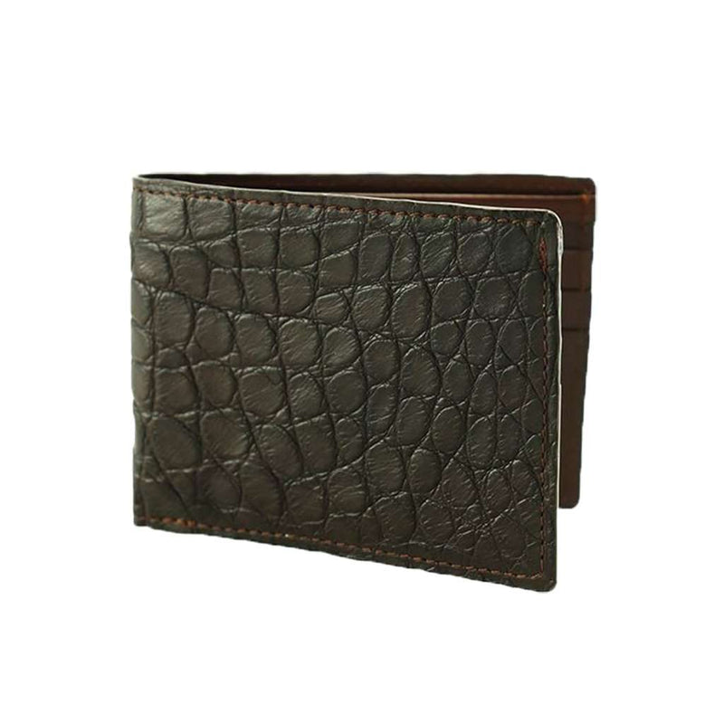 TB Phelps Lancaster Alligator Wallet in Briar Brown by TB Phelps