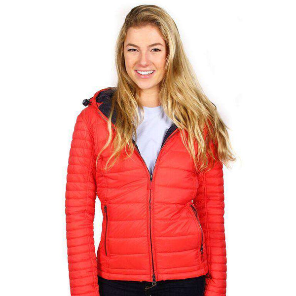 Landry Baffle Quilted Jacket in Flare and Navy by Barbour  - 1