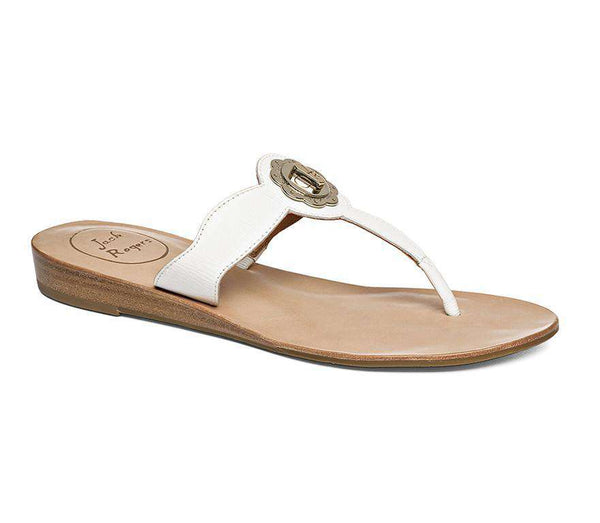Larissa Sandal in White by Jack Rogers