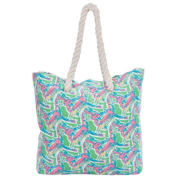 Lauren James Beach Tote in Macawl Me by Lauren James