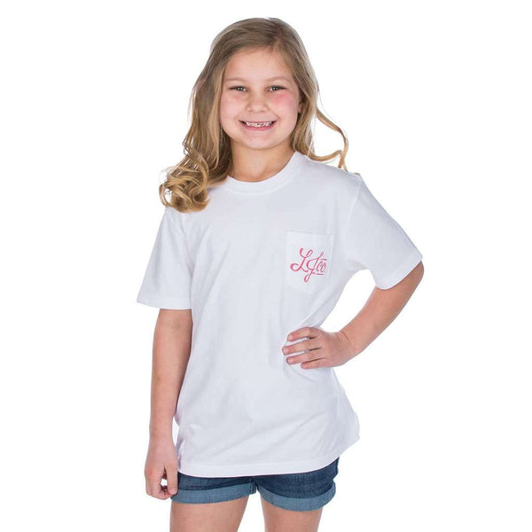 Lauren James Youth Girl's Best Friend Tee in White