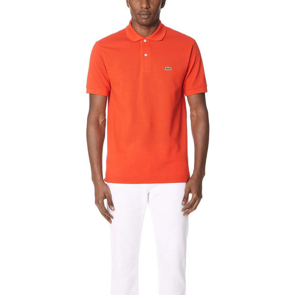 Short Sleeve Classic Pique Polo in Etna Red by Lacoste